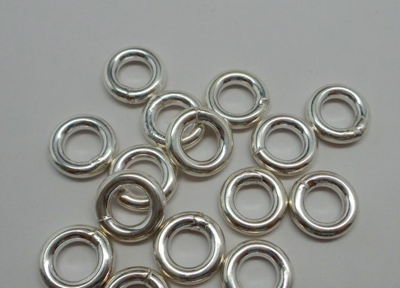 925 solid sterling silver jump rings closed rings 12 mm