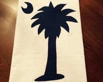 South Carolina Palmetto Tree Flour Sack Dish Towel