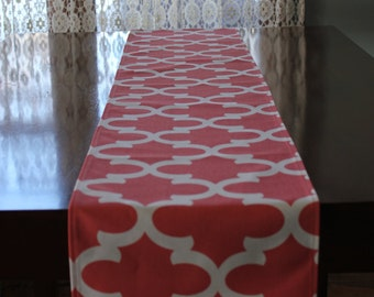 Fynn Coral Table Runner