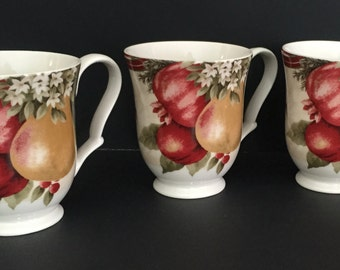 Set of 6 six expresso cups genevieve lethu by lalascollections for Alpine cuisine fine porcelain