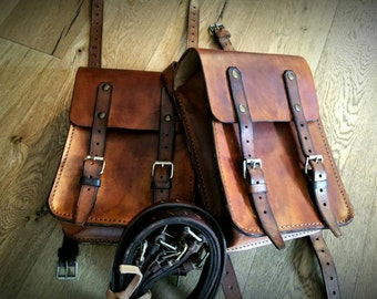 4 mm adjustable leather Cafe racer tank bags Scrambler Cafe racer tank bags. COD 65