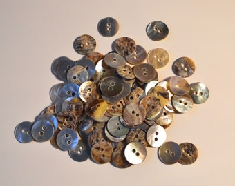 10mm Pearl round shell button (two holes)