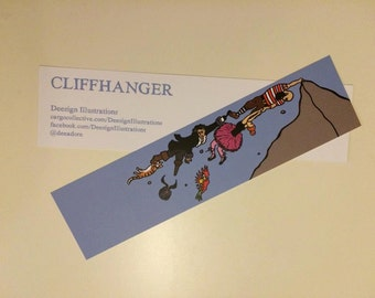 Cliffhanger Illustrated Bookmark