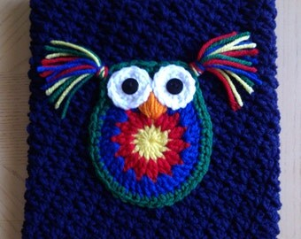 Crocheted Owl iPad Cover