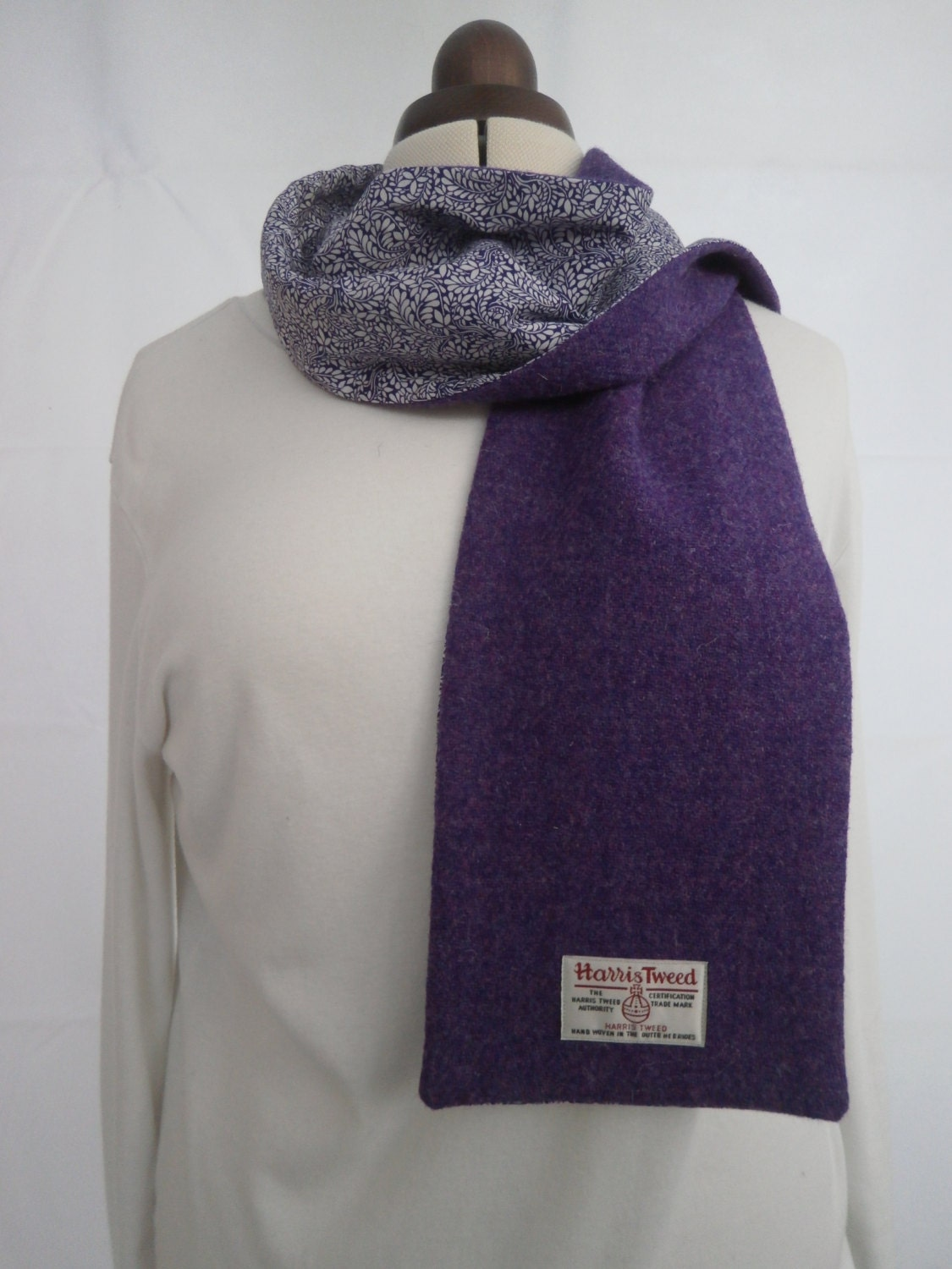harris tweed liberty of scarf longer by heritagesewn