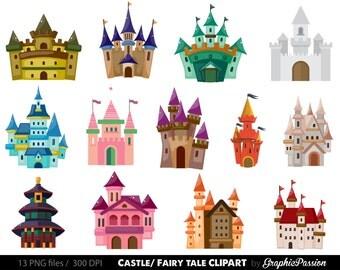 Castle Clip art. Kids Castle Clipart. Fairy Tale Clipart. Pink Castle Clipart INSTANT DOWNLOAD