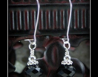 Silver & Black Earrings - Redemtion