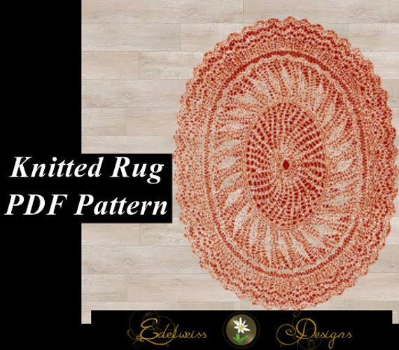 How To Follow A Knitting Pattern : Knitted Rug Pattern Easy to follow knit by DesignsByEdelweiss