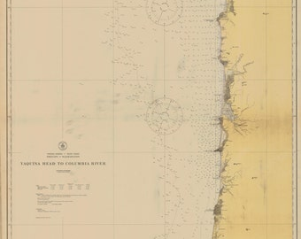 Yaquina Head to Columbia River (OR) Historical Map 1920