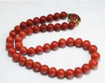 Collana corallo rosso sardegna di prima scelta a gradazione cm 47,5 pezzo eccezionale