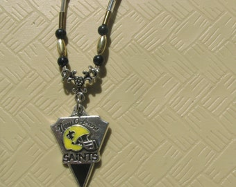New Orleans Saints' charm necklace