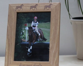 Detailed and Personalised Horse Frame with Name and Horses!