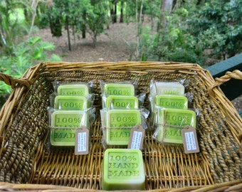 Coconut & Lime Cocoa Butter soaps - Handmade