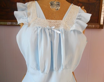 Beautiful Baby Blue Nightgown/lingerie from the 1930's