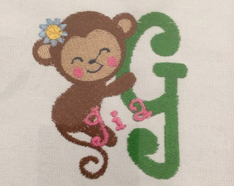 Embroidered,  personalized onesies with any name in any color.