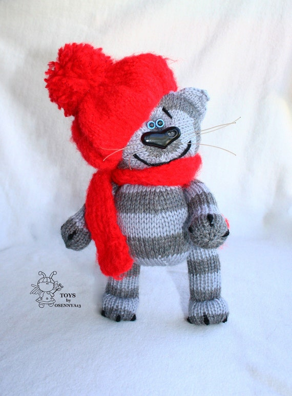Knitting Toys In The Round : Tabby cat amigurumi knitting pattern