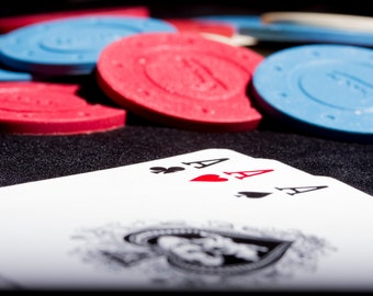 Macro poker game and chips