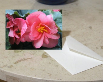 Floral Notecards -- Pink, Yellow, or Red -- Set of 5 -- Blank Inside -- Envelopes Included