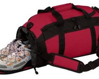 Sports bag with embroidery great for sports, dance, gym, or just as a overnight bag