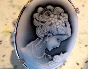 Cameo ring Sterling 925 mademoiselle