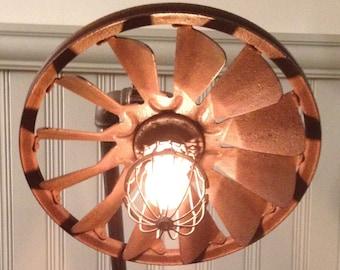 Vintage Lamp w/ Fan Shade