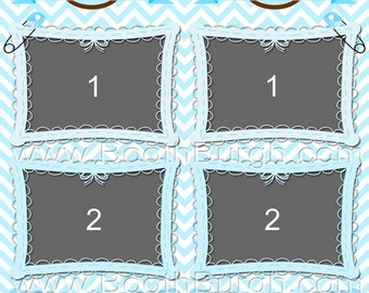 """Thee Baby Shower photo booth printer templates - 2""""x6"""" strips with 3 photos"""