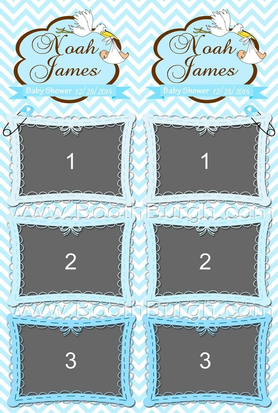Thee Baby Shower Photo Booth Printer Templates 2x6 By