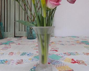 Small Satin Glass Vase