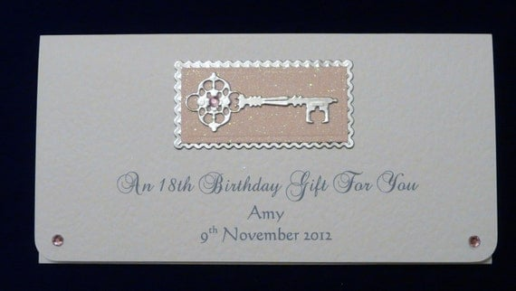 birthday cheque template - 18th 21st birthday money gift voucher wallet any colour trim