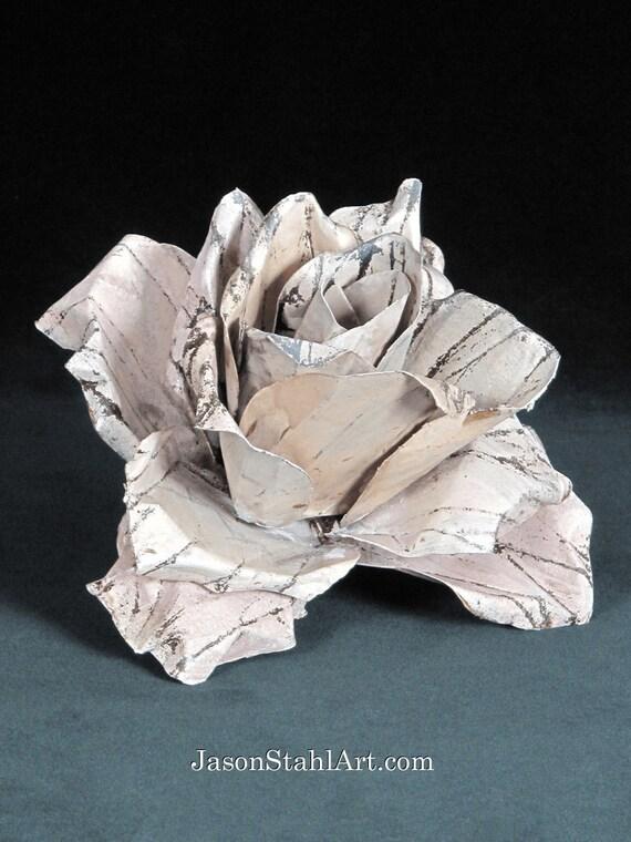 Iron Sculpture Patina Metal Sculpture Pink Patina