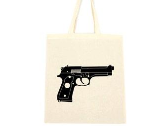 cotton tote bag, gun bag