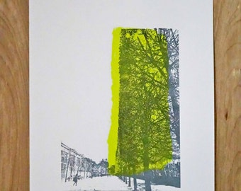 Museé de l'Orangerie Trees - Paris - Original Screen Print