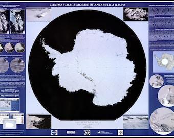 24x36 Poster; Landsat Map Of Antarctica South Pole 2007