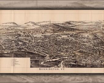 24x36 Poster; Map Of Bennington Vermont 1905