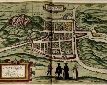 24x36 Poster; Map Of Edinburgh Scotland 1612