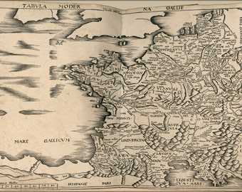 24x36 Poster; Map Of France 1513