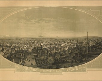 24x36 Poster; View Of Los Angeles, California 1888