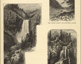 24x36 Poster; Views Of Yellowstone National Park 1881