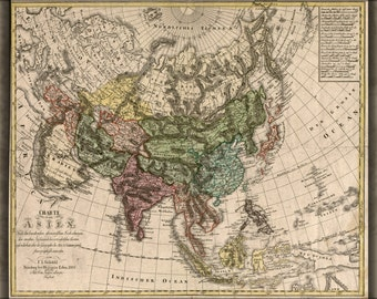 24x36 Poster; Charte Von Asia Map 1805 China India Russia Japan
