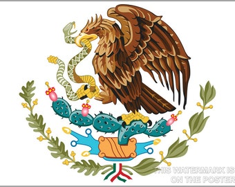 24x36 Poster; Coat Of Arms Of Mexico, From Aztec Mythology