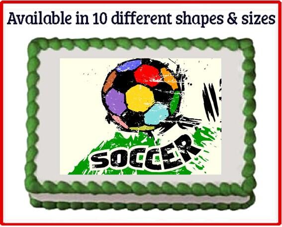 Plastic Soccer Ball Cake Toppers