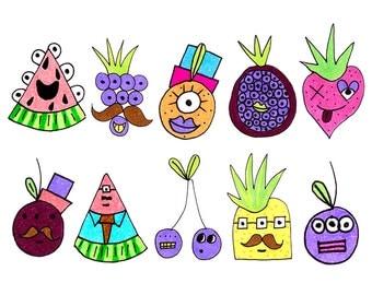 10 Fruit stickers