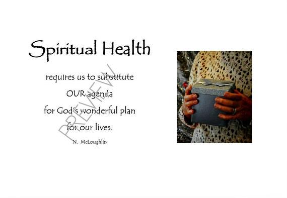 Spiritual Health Original Quotes Motivational Prints