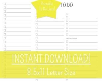 To Do List Set, Printable To Do Lists