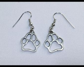 Earrings Dog Footprint Earrings