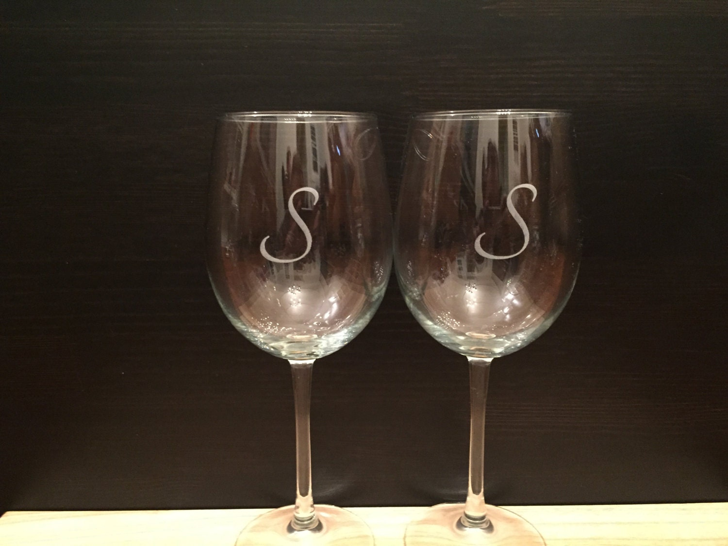 Personalized Custom Engraved Wine Glasses Set Of 2