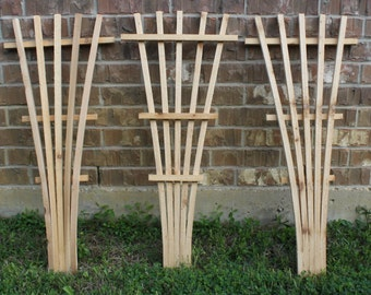 3 Brand New Decorative Trellis pieces, Garden Lattice made from cedar wood