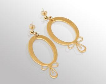 Earrings Golden Ron Alkalene