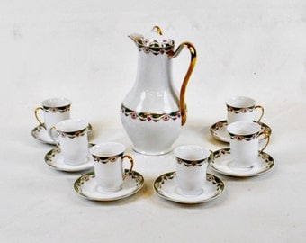 Limoges Chocolate set for 6. Marked on the bottom