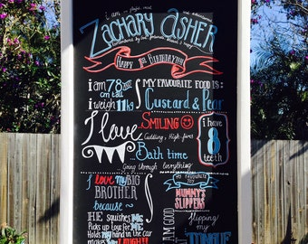 Wooden Chalk Board Sign for Birthday Boy / Birthday Girl (Custom)